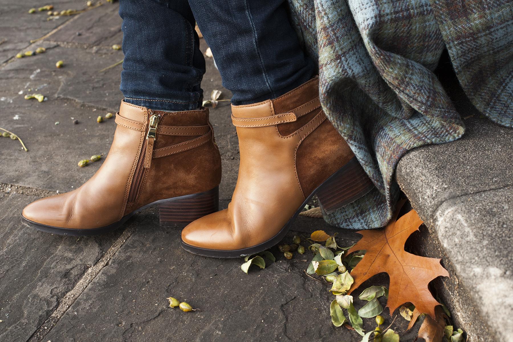 Lauren Ralph Lauren boots with leaf