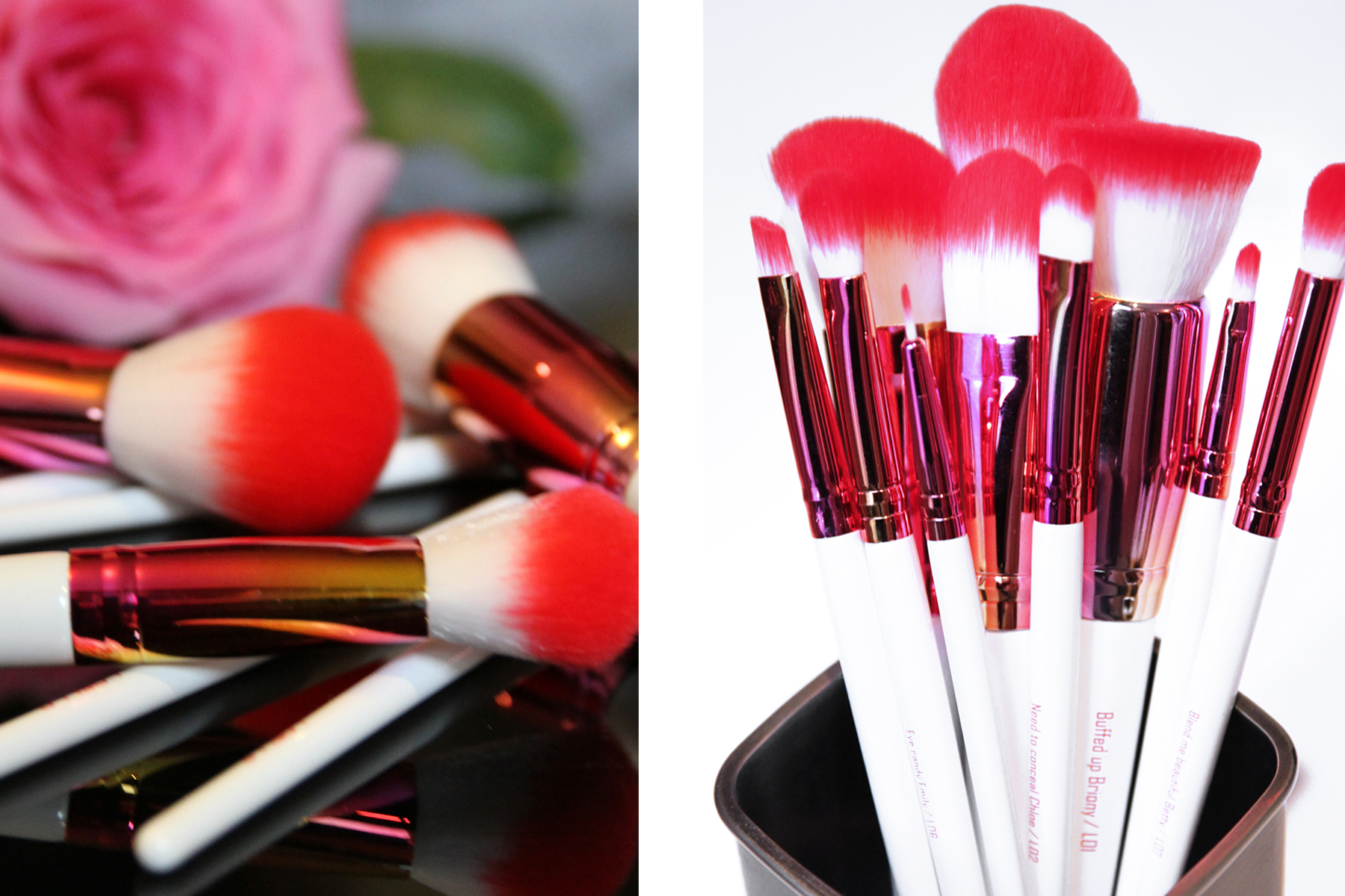 Loella Cosmetics Girl on Fire Brushes
