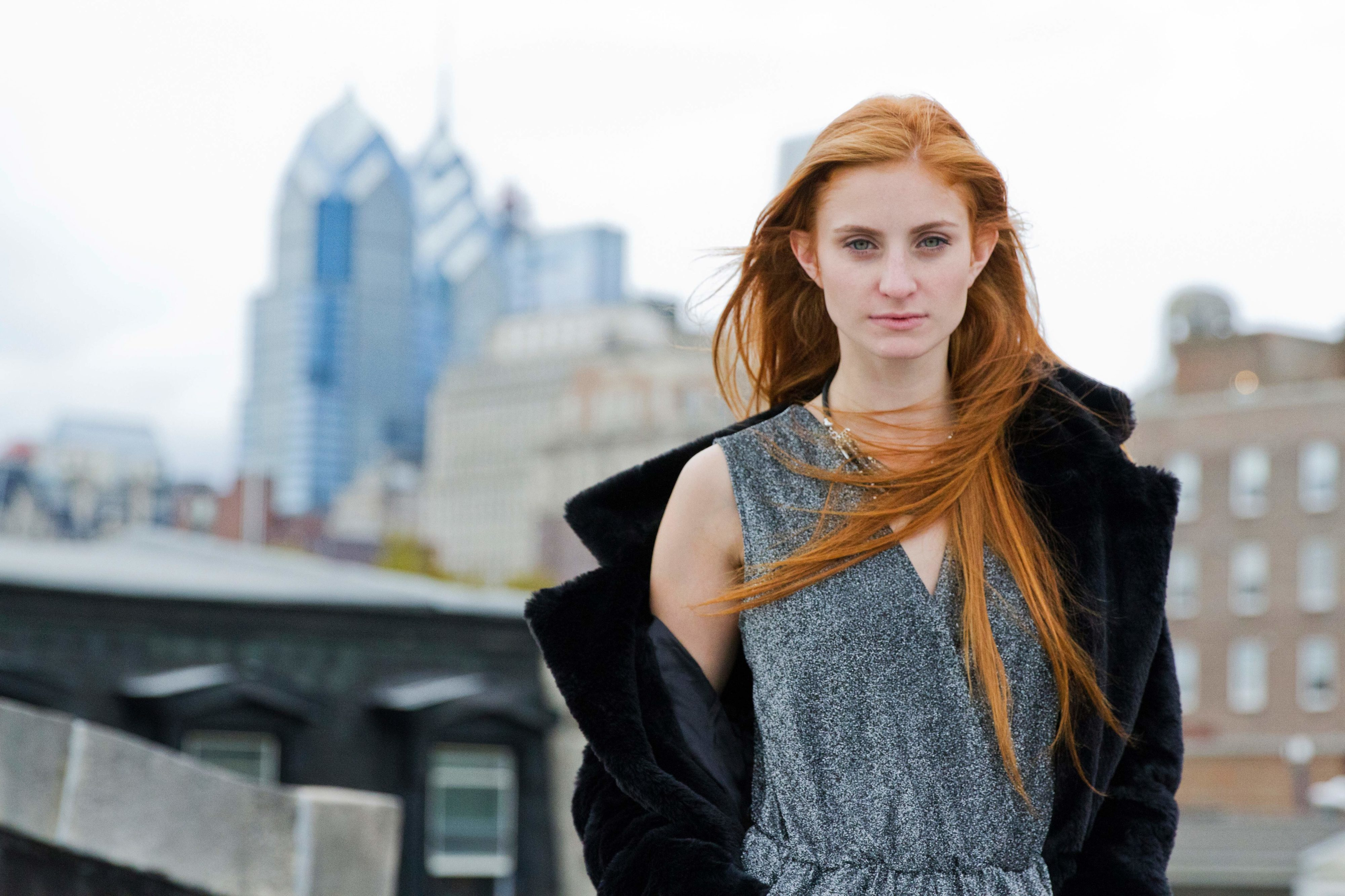 Redhead Girl in jacket on