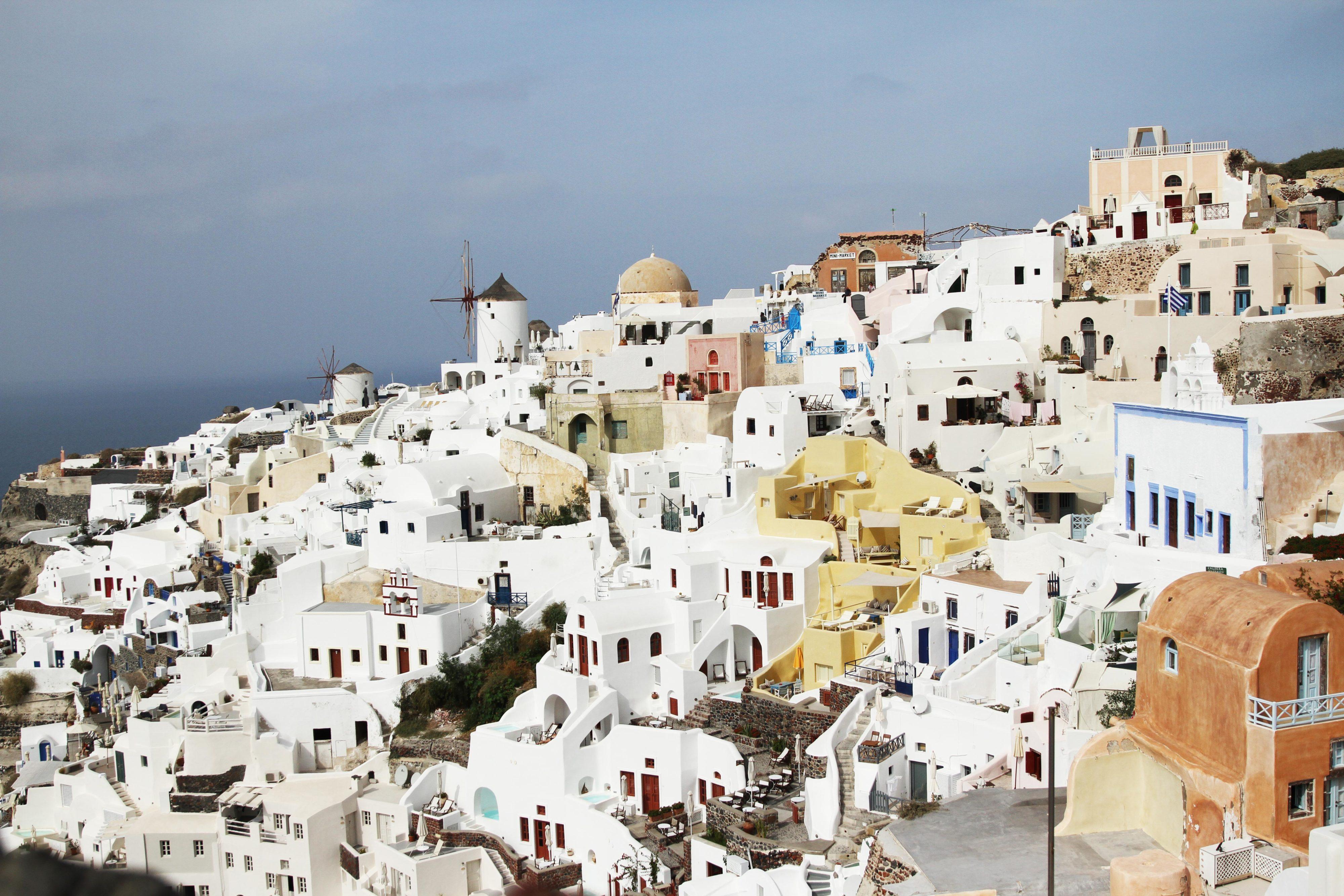 White houses in Santorini, Greece