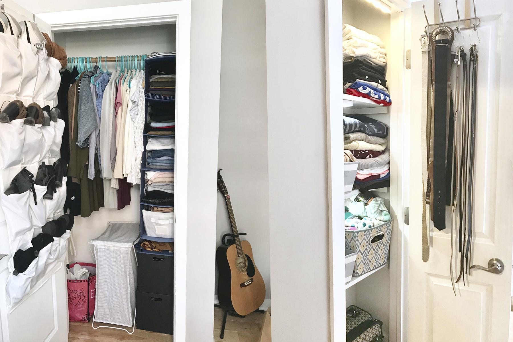 she's red haute small closet organization