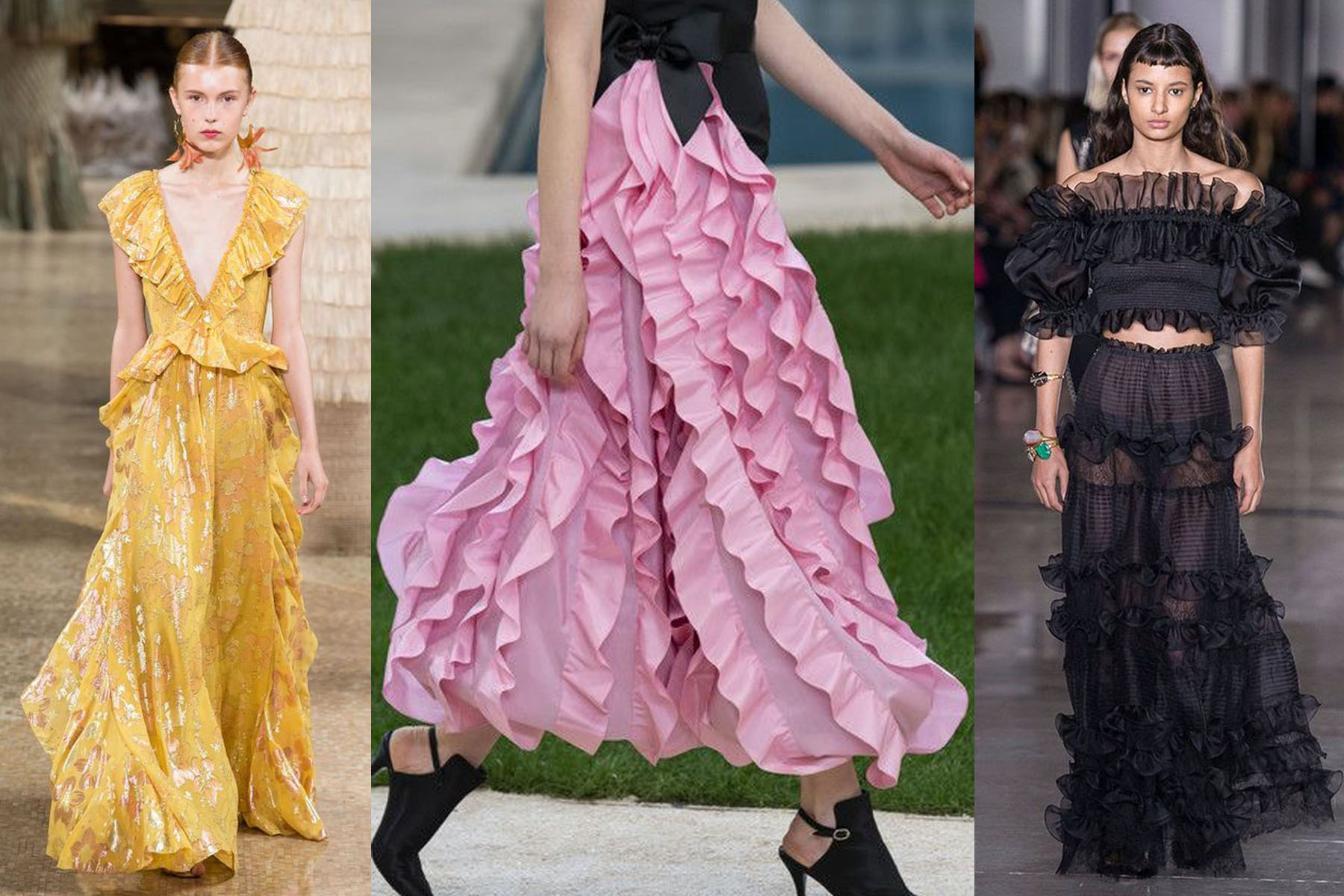 Ruffles, Marc Jacobs ss19, Chanel Couture Spring 19, Giambatista SS19