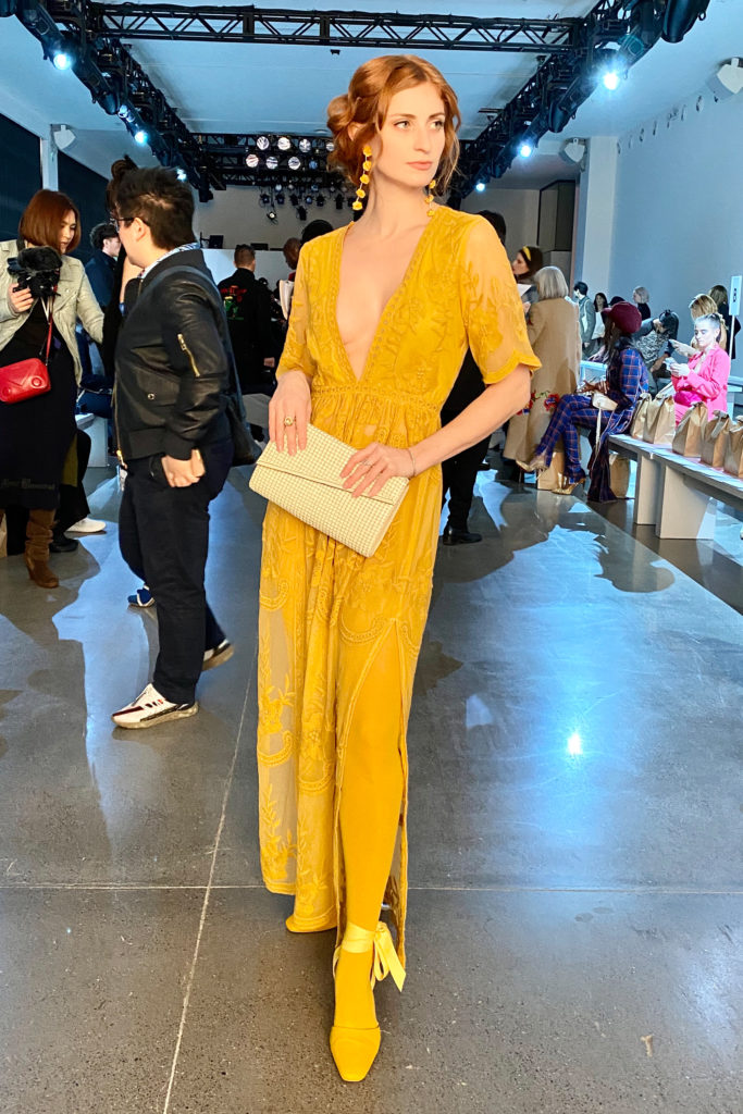 Erin of She's Red Haute at Just In XX NYFW show